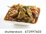 mix or mixed pickle  delicious... | Shutterstock . vector #672997603
