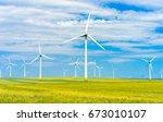 eolian farm renewable energy | Shutterstock . vector #673010107