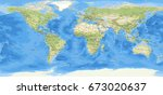 world map | Shutterstock . vector #673020637