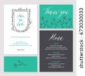 template rustic wedding...   Shutterstock .eps vector #673030033