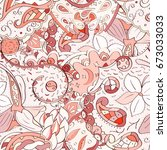 tracery seamless pattern....   Shutterstock .eps vector #673033033