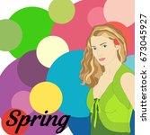stock vector spring type of... | Shutterstock .eps vector #673045927
