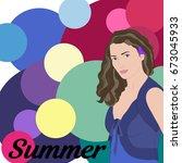 stock vector summer type of... | Shutterstock .eps vector #673045933