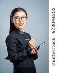 chinese business girl    Shutterstock . vector #673046203