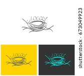 logo nest | Shutterstock .eps vector #673049923