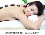 beauty woman in spa with broun... | Shutterstock . vector #67305244