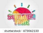 polygonal geometrical summer... | Shutterstock .eps vector #673062133
