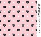 tile vector pattern with black... | Shutterstock .eps vector #673078057
