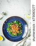 fresh vegetarian salad with...