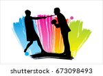 people silhouettes | Shutterstock .eps vector #673098493