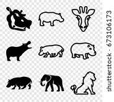 safari icons set. set of 9...   Shutterstock .eps vector #673106173