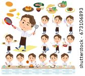 set of various poses of wild...   Shutterstock .eps vector #673106893