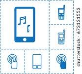 touchscreen icon. set of 6... | Shutterstock .eps vector #673131553