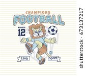 cute lbaby lion sport icon