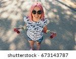 pretty top view shot of... | Shutterstock . vector #673143787