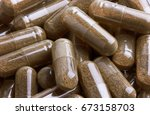 capsule pharmacy close up   Shutterstock . vector #673158703
