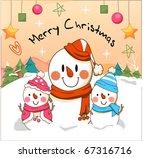 snowman greeting | Shutterstock .eps vector #67316716