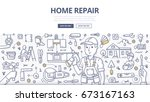 doodle vector illustration of a ... | Shutterstock .eps vector #673167163