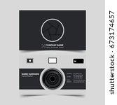 photographer business card... | Shutterstock .eps vector #673174657