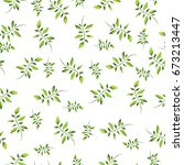 seamless pattern with elegance... | Shutterstock . vector #673213447