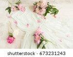 glamor elegant evening party... | Shutterstock . vector #673231243