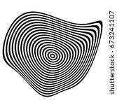 circular shape with spiral ... | Shutterstock .eps vector #673241107