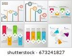 bundle infographic elements | Shutterstock .eps vector #673241827