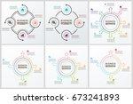 bundle infographic elements   Shutterstock .eps vector #673241893