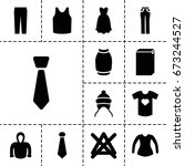 clothes icon. set of 13 filled... | Shutterstock .eps vector #673244527
