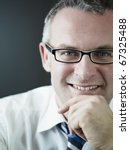 portrait of caucasian mature... | Shutterstock . vector #67325488