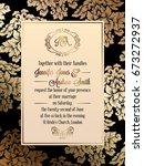 vintage baroque style wedding... | Shutterstock .eps vector #673272937