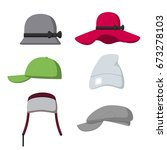 hat and cap for men and women... | Shutterstock .eps vector #673278103