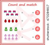 counting game for preschool... | Shutterstock .eps vector #673284817