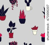 vector seamless pattern with... | Shutterstock .eps vector #673300207