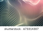 abstract polygonal space low... | Shutterstock . vector #673314307