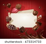 vector illustration of a frame... | Shutterstock .eps vector #673314733