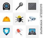 set of 9 editable safety icons. ...