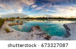Panorama View Of A Blue Lagoon...