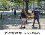 tokyo  japan   july 8th 2017.... | Shutterstock . vector #673350607