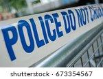 tape marked police do not cross ... | Shutterstock . vector #673354567