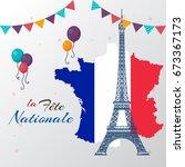 bastille day | Shutterstock .eps vector #673367173