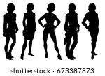vector illustration of woman's... | Shutterstock .eps vector #673387873