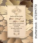 vintage baroque style wedding... | Shutterstock .eps vector #673394773