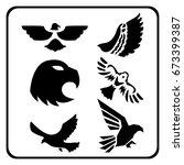 eagle vector collection | Shutterstock .eps vector #673399387