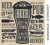 vector banner for brewery or... | Shutterstock .eps vector #673401547