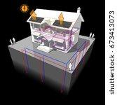 3d illustration of diagram of a ... | Shutterstock .eps vector #673413073