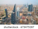 riyadh   august 21  aerial view ... | Shutterstock . vector #673475287