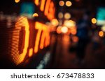 display of stock market quotes... | Shutterstock . vector #673478833