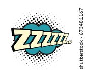 zzz comic word. pop art retro... | Shutterstock .eps vector #673481167