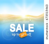 summer sale template with ... | Shutterstock .eps vector #673515463